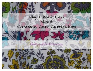 don't care about common core